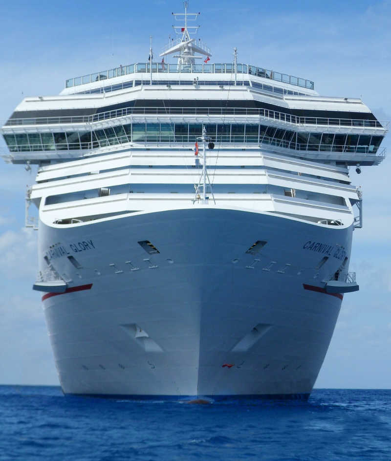Carnival Glory Cruise Ship from front