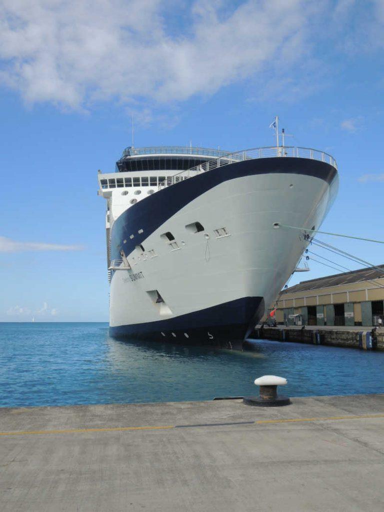 Celebrity summit cruise ship in port