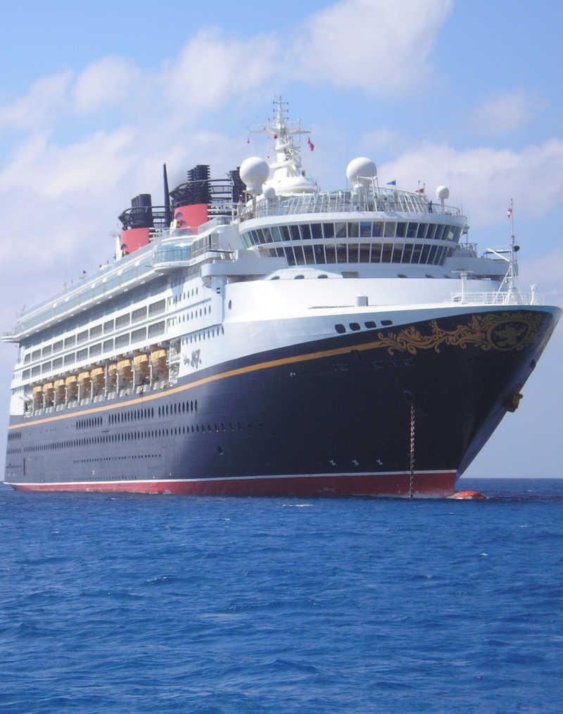 Disney Cruise Ship in Ocean