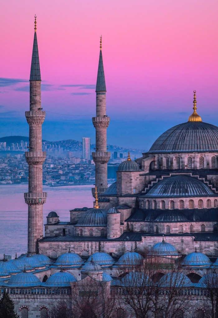Dome Architecture in Sultanahmet, Turkey