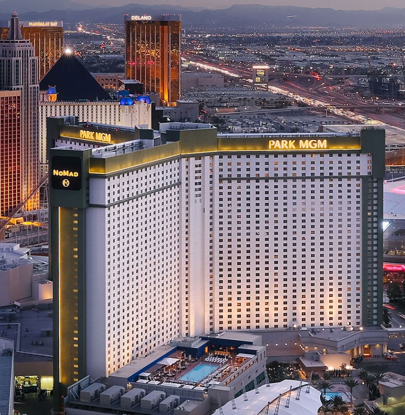 Park Mgm hotel aerial view