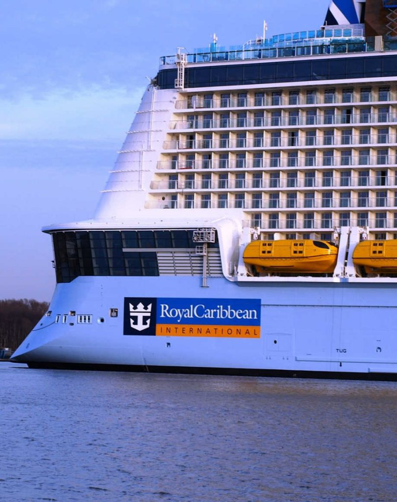 Royal Caribbean Ship with logo