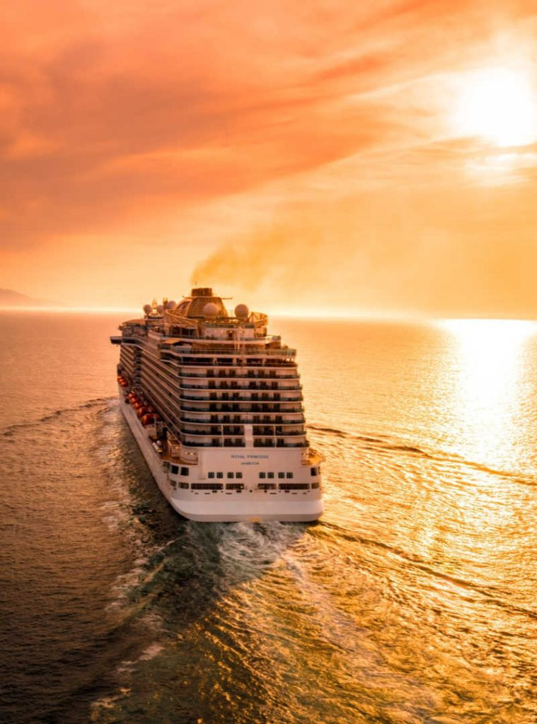 Royal Princess Cruise Ship Sunset