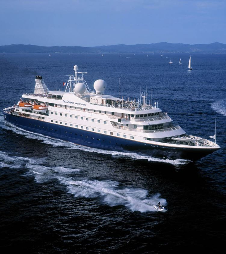 Seadream yacht at sea in norway