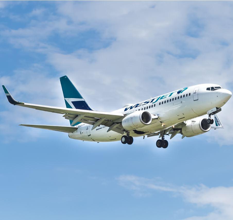 Westjet plane mid flight