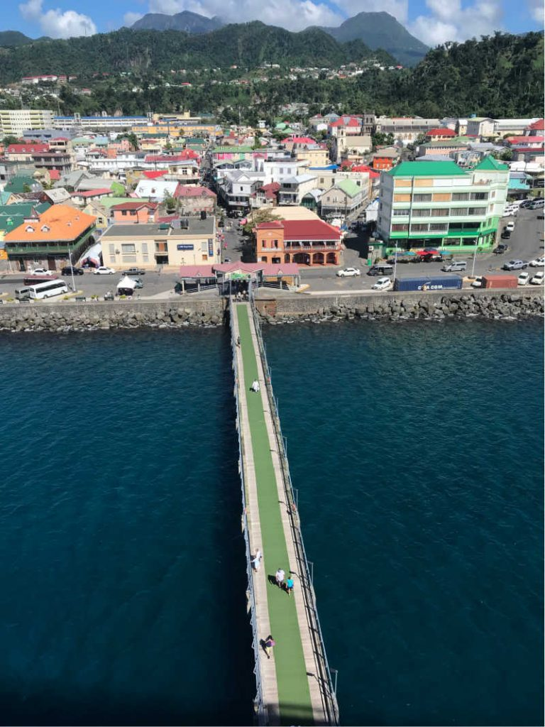Pier in dominica