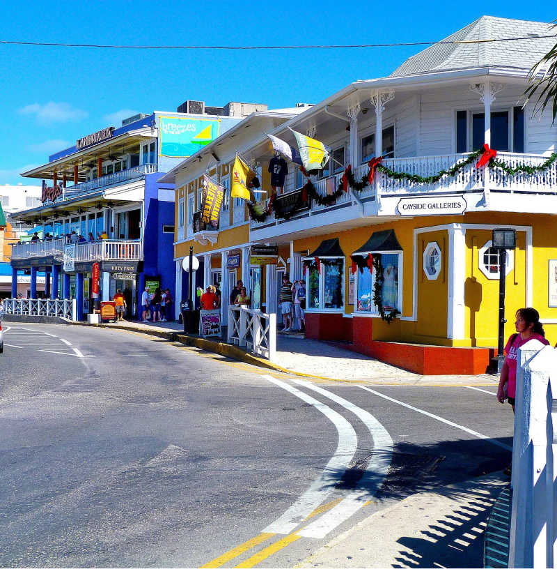 cayman island colorful street