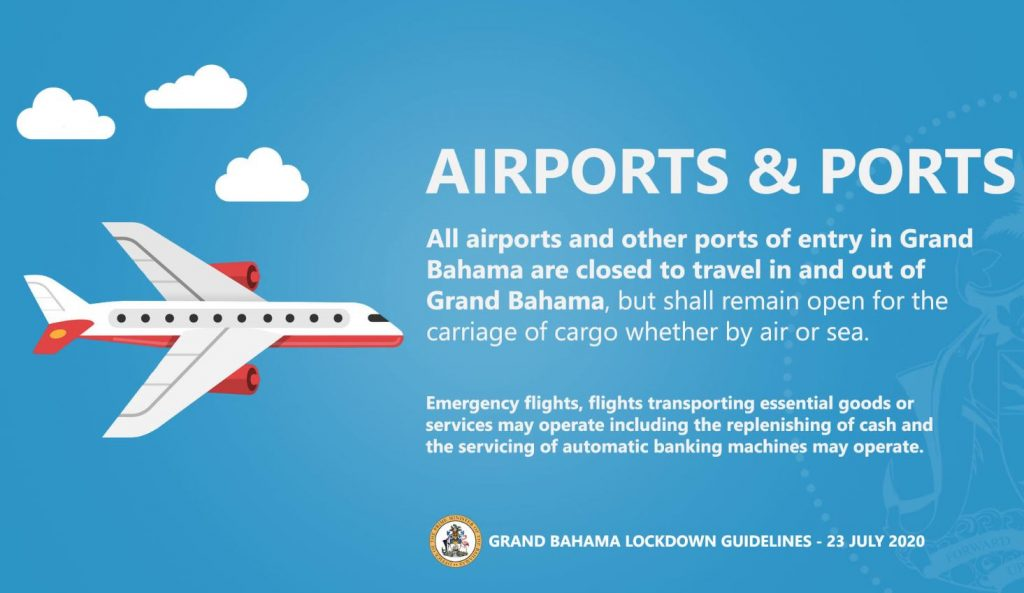 grand bahamas lock down