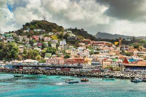 grenada town on ocean