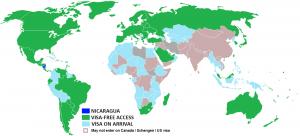 nicaragua visa-free