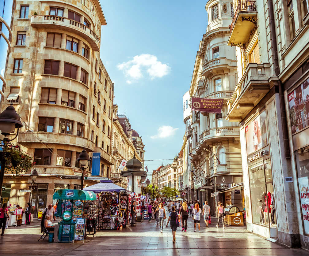 Downtown Belgrade Serbia