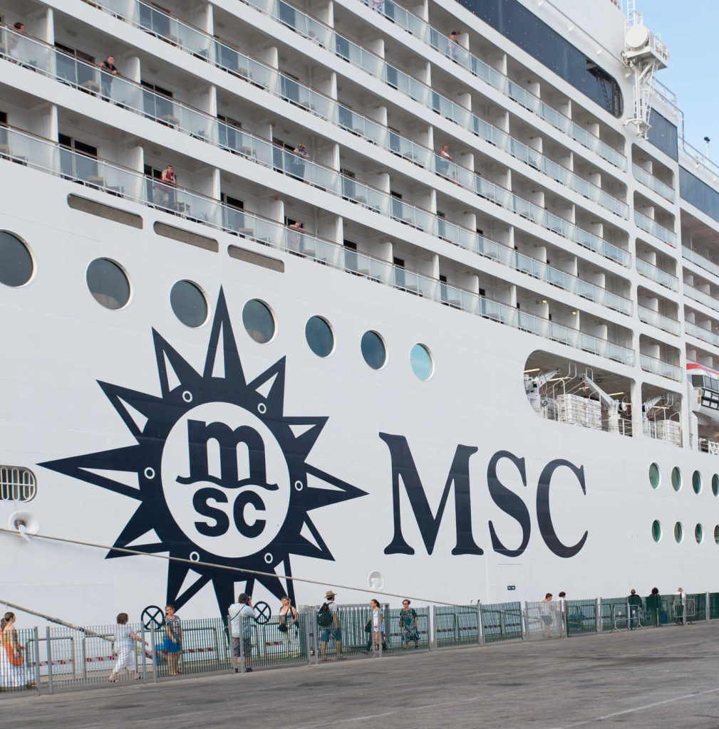 Passenger boarding msc cruise ship