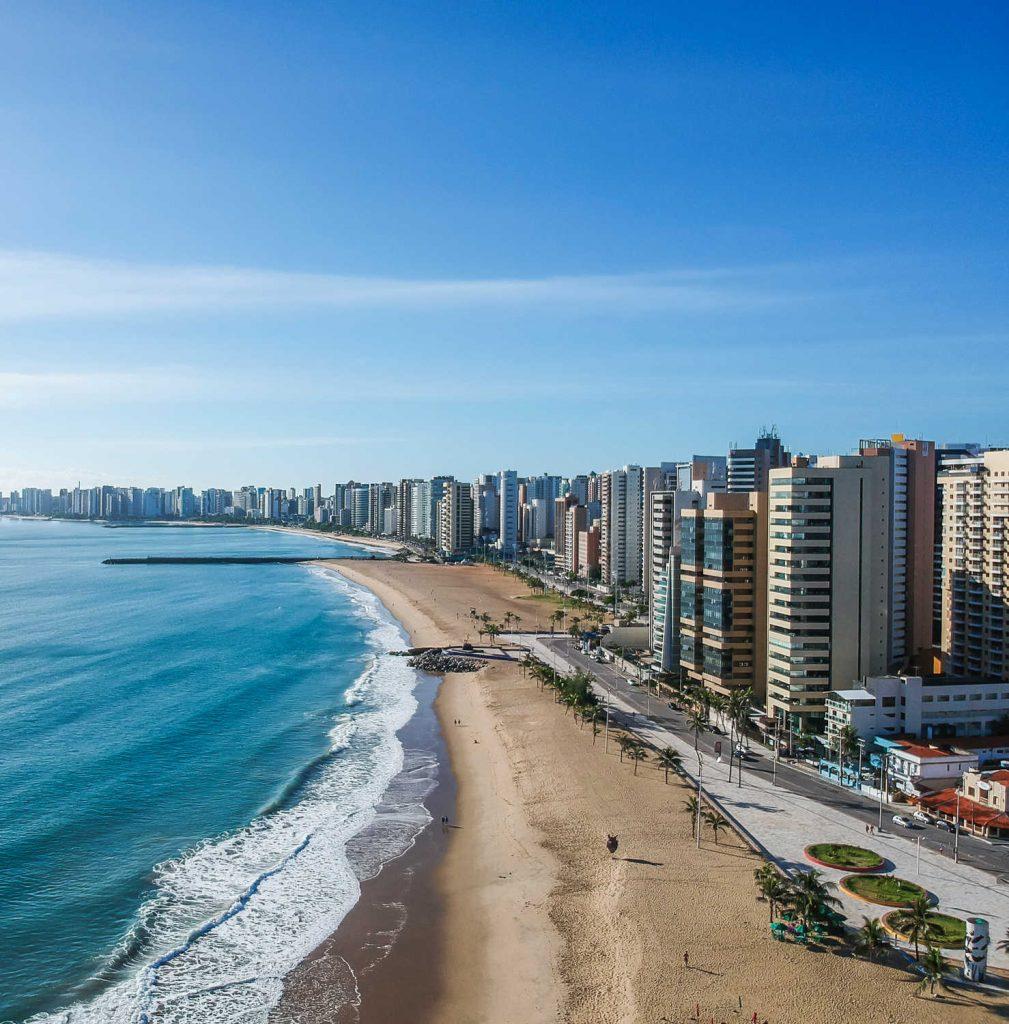Praia de Iracema Beach from above, Fortaleza, Ceara State, Brazil