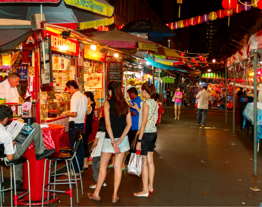 Side Street Food Vendors in Singapore
