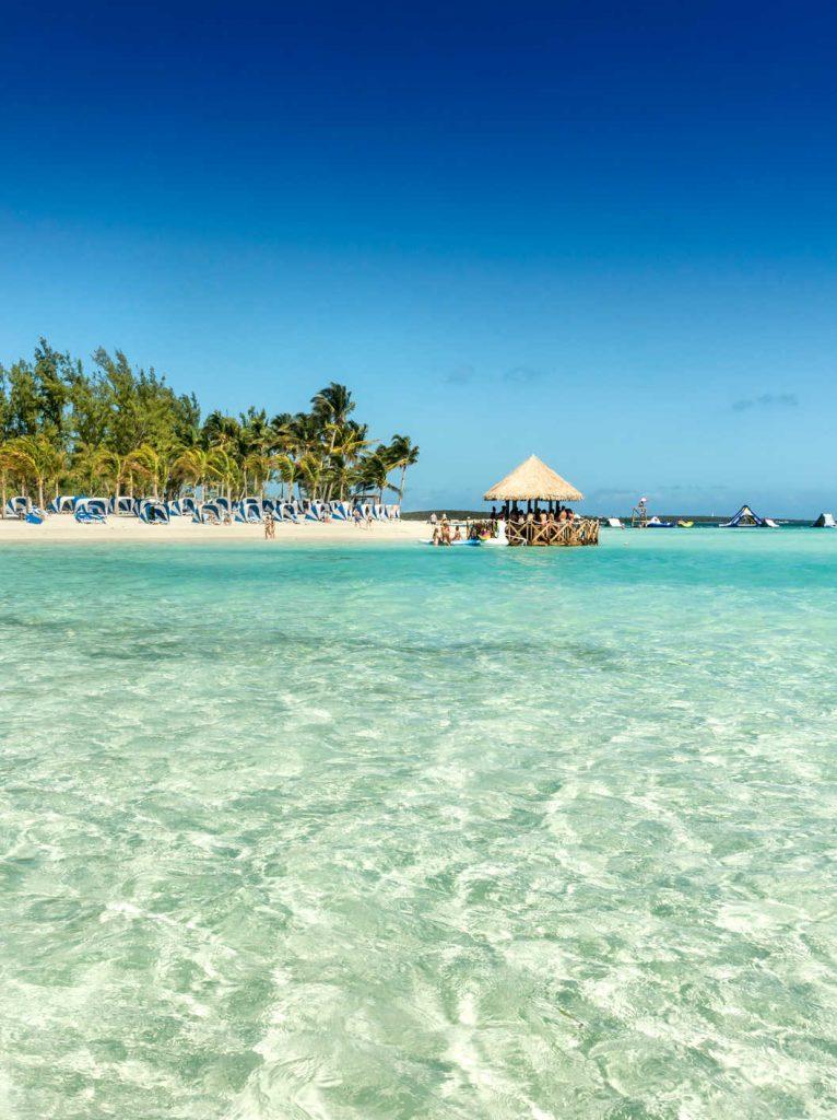 White sand beach in Jamaica
