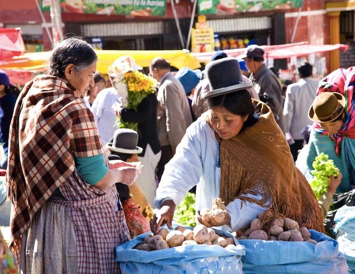 market in La Paz Bolivia