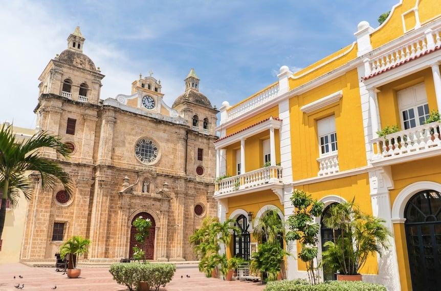 church of San Pedro in Cartagena, Colombia