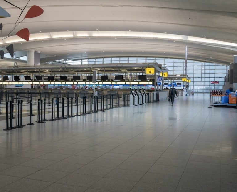 empty terminal in JFK airport