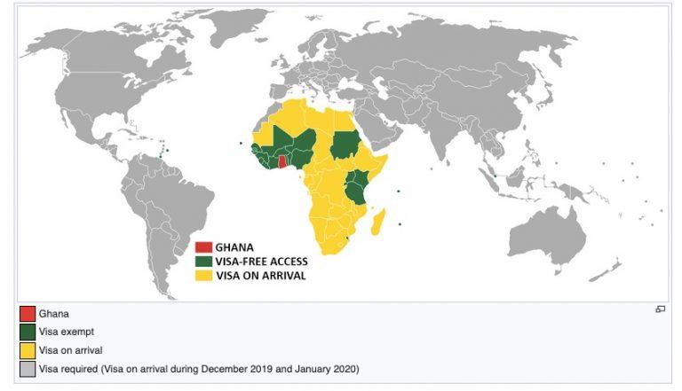 who needs a visa to go to ghana