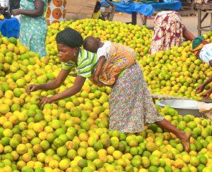 Market in Esiam, Ghana