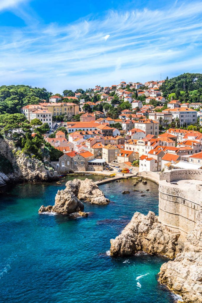 View of Fort Lovrijenac from Dubrovnik City Wall,