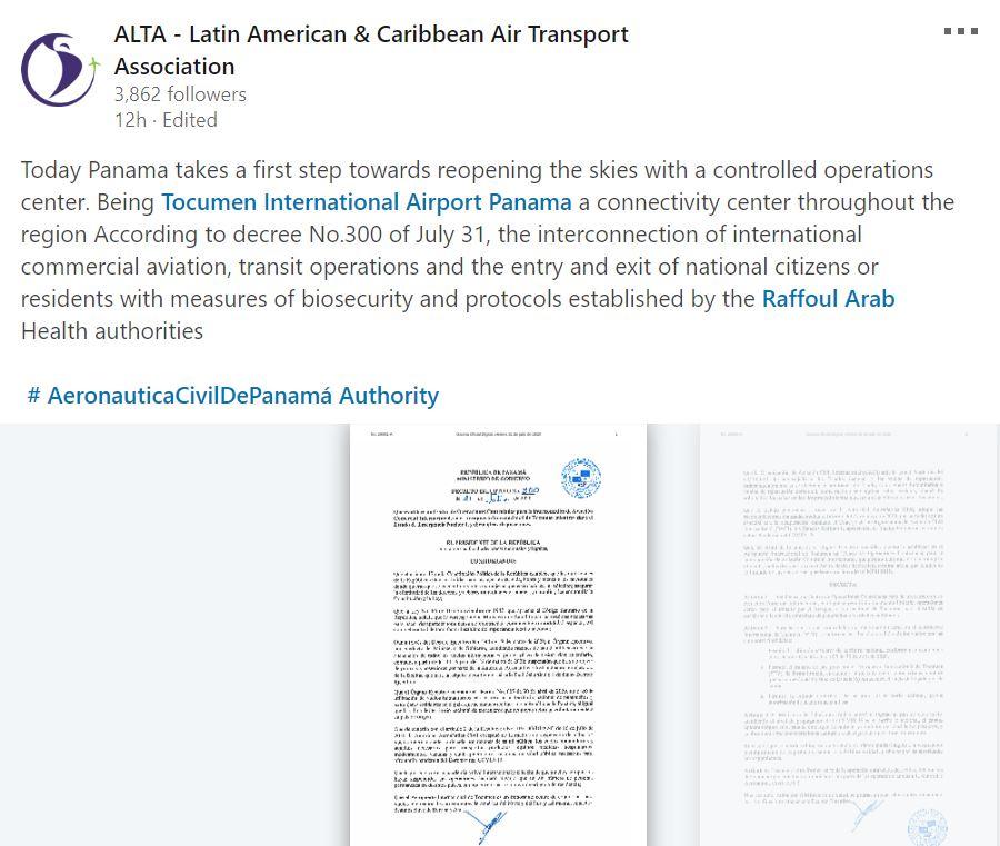 panama decree transit airport