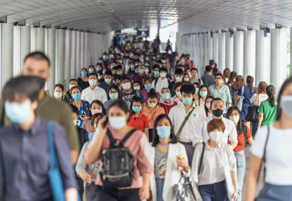 thailand travelers wearing masks