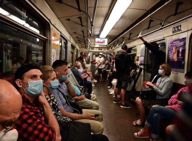 ukraine subway during pandemic