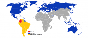 visa policy of colombia