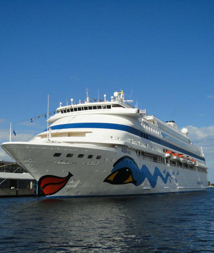 AIDA Cruise Ship in port