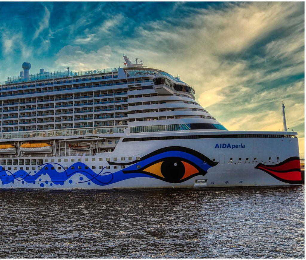 AIDA Perla at sea