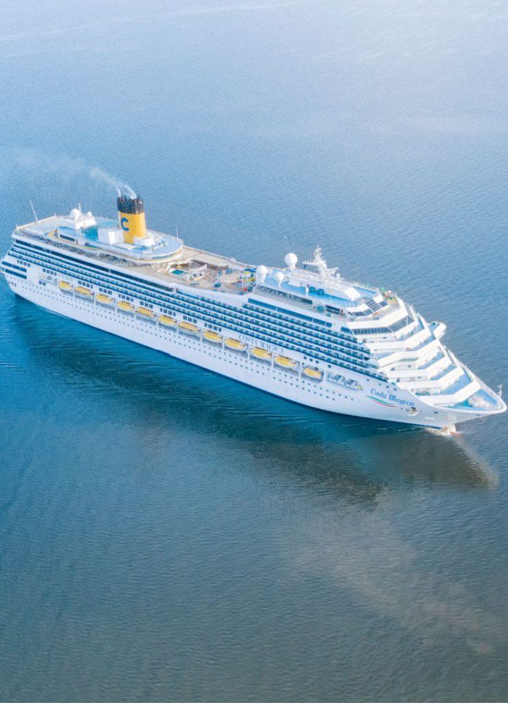 Aerial View Costa Cruise ship