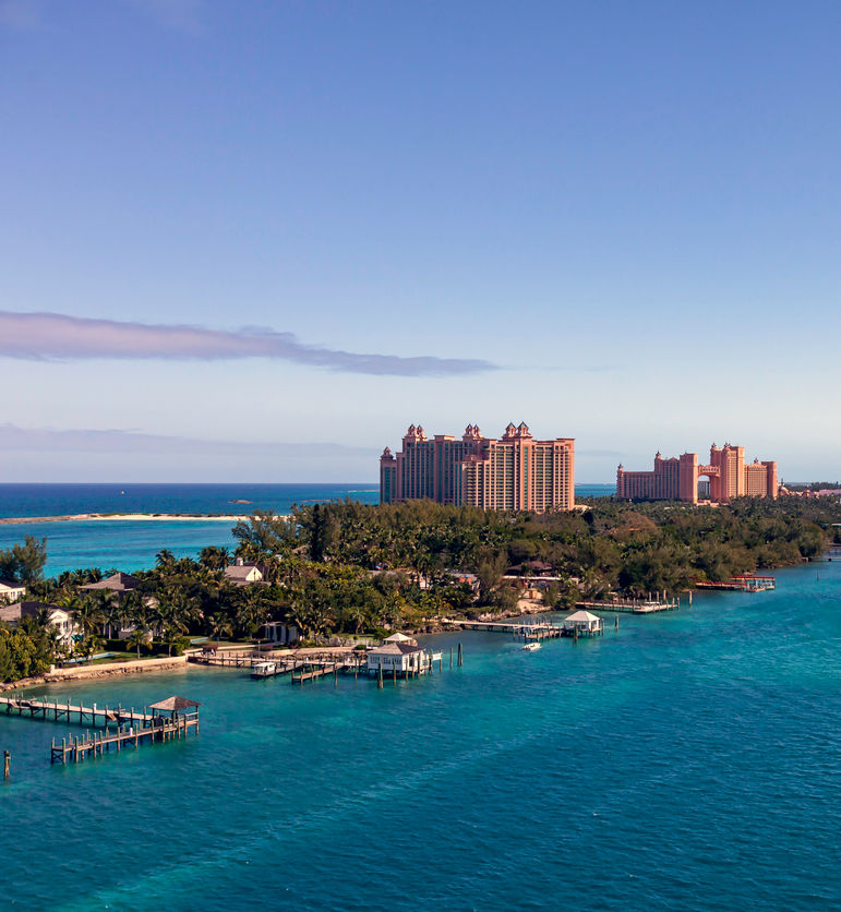 Aerial View of Paradise Island in the Bahamas