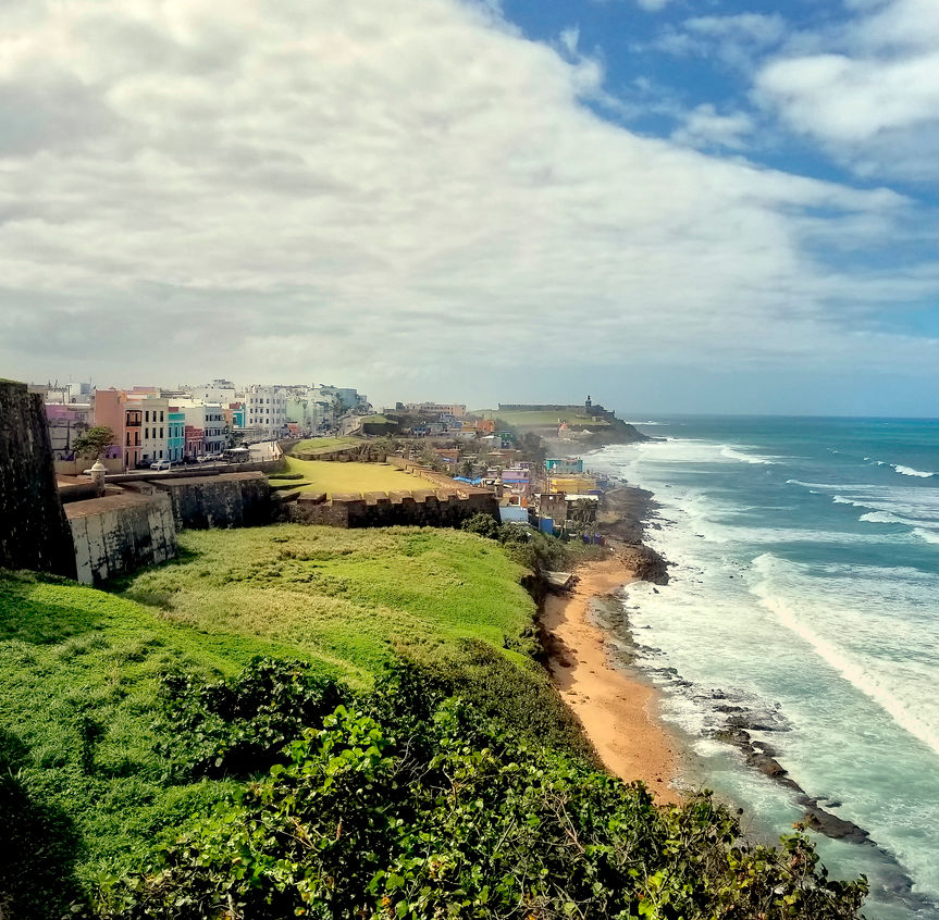 Coastline of Puerto Rico, old San Juan
