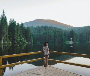 Synevir lake in Ukraine