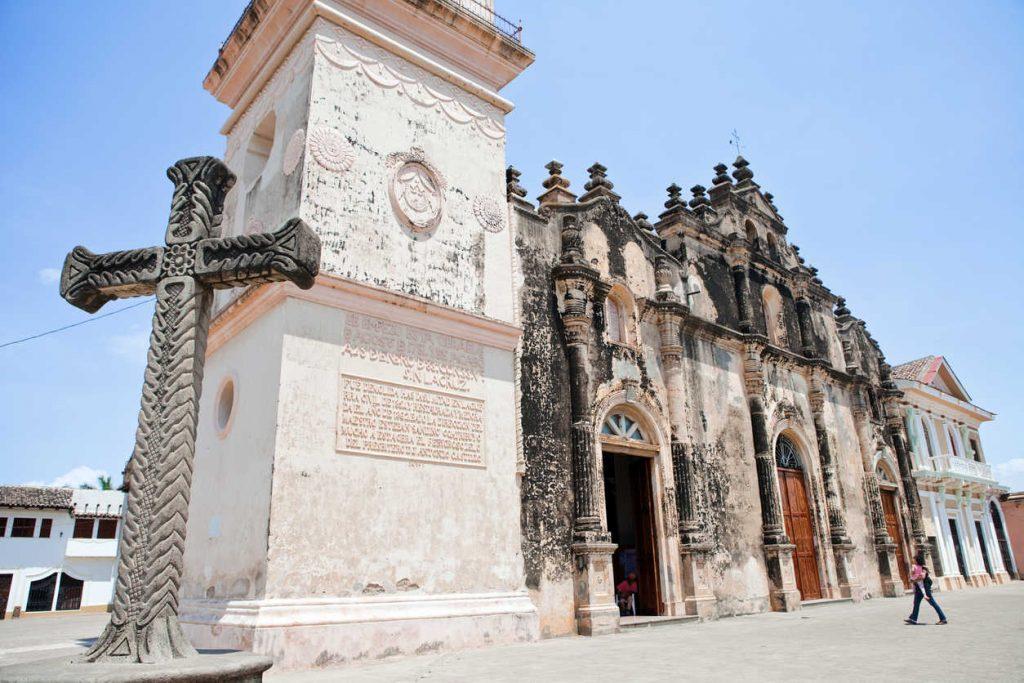 The Iglesia de la Merced, in Granada, Guatemala the oldest colonized city in Central America