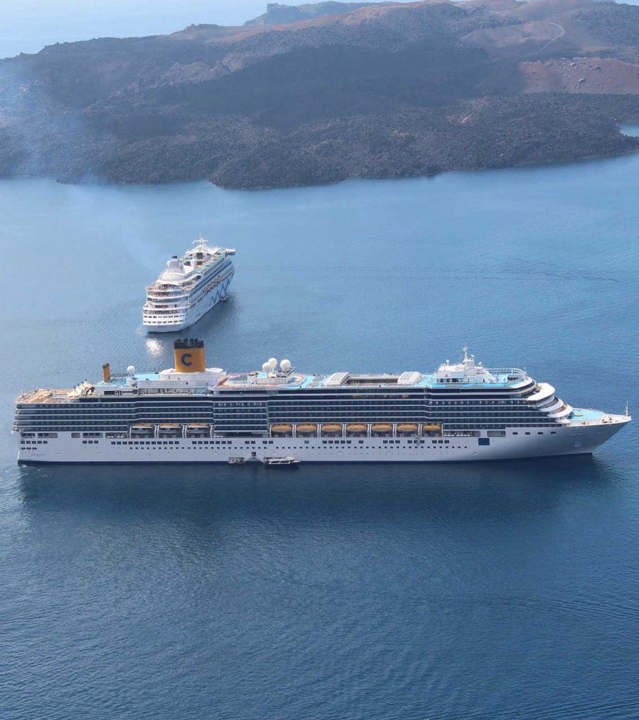 Two Costa Cruise Ships