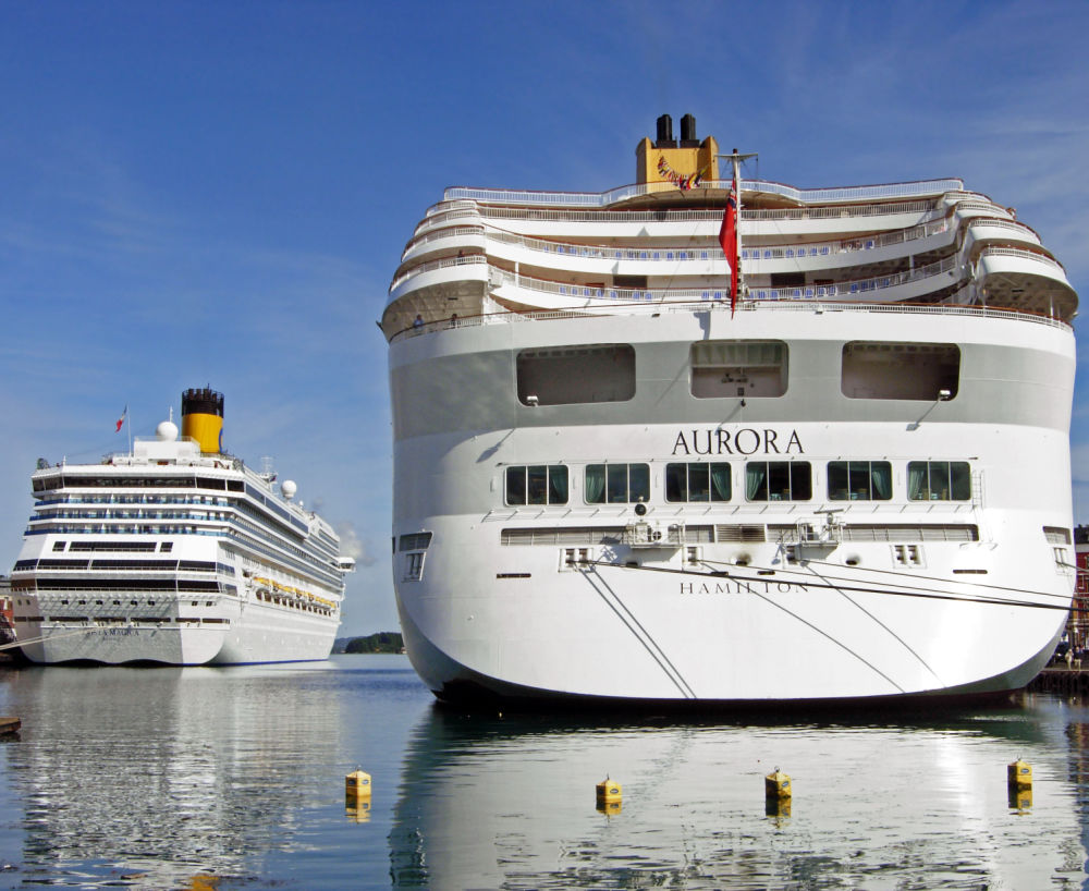 Two Costa Cruise Ships in Port