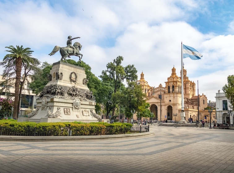 San Martin Square and Cordoba Cathedral