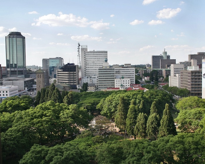 Buildings in Harare, capital of Zimbabwe