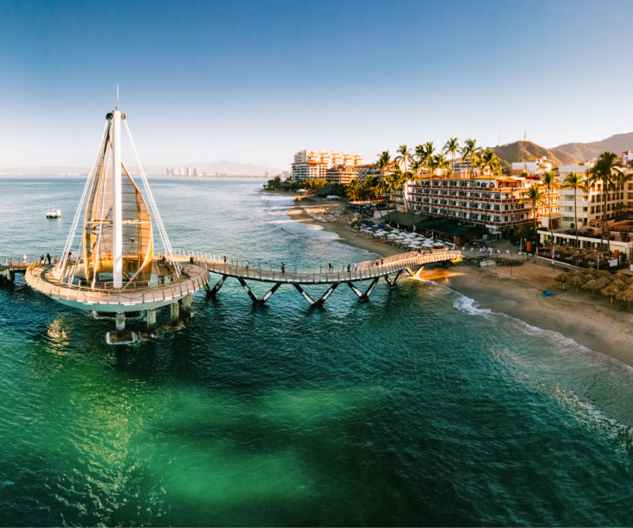 Aerial view of Beach in Puerto Vallarta
