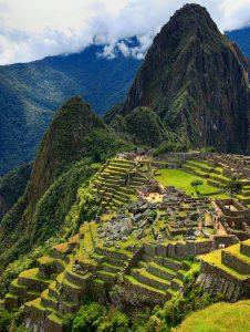 The Incan ruins of Machu Picchu