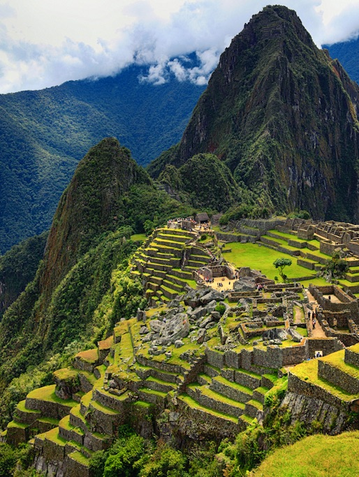 The Incan ruins of Machu Picchu