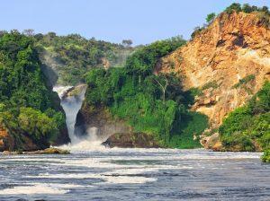 The waterfall on the Victoria Nile, Murchison Falls, Uganda