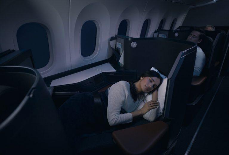 lie flat seats 787 westjet dreamliner