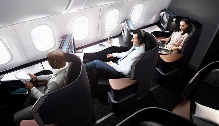 westjet 787 dreamliner business lie flat
