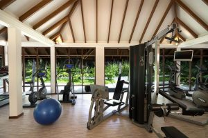 gym at the anantara veli maldives
