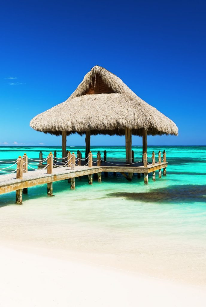 Dominican Republic purgola blue water