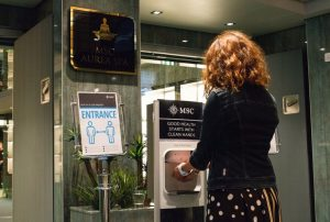 MSC hand sanitizing protocols