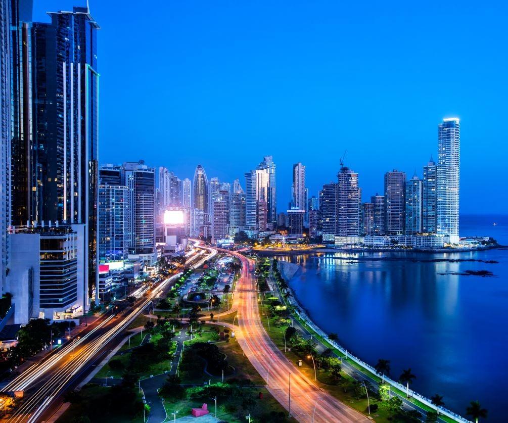 Panama City Skyline at Night